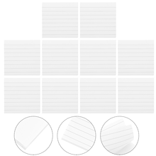 10Pcs Sticky Pads Student Memo Notes Office Transverse Line Self Adhesive Notes (White)