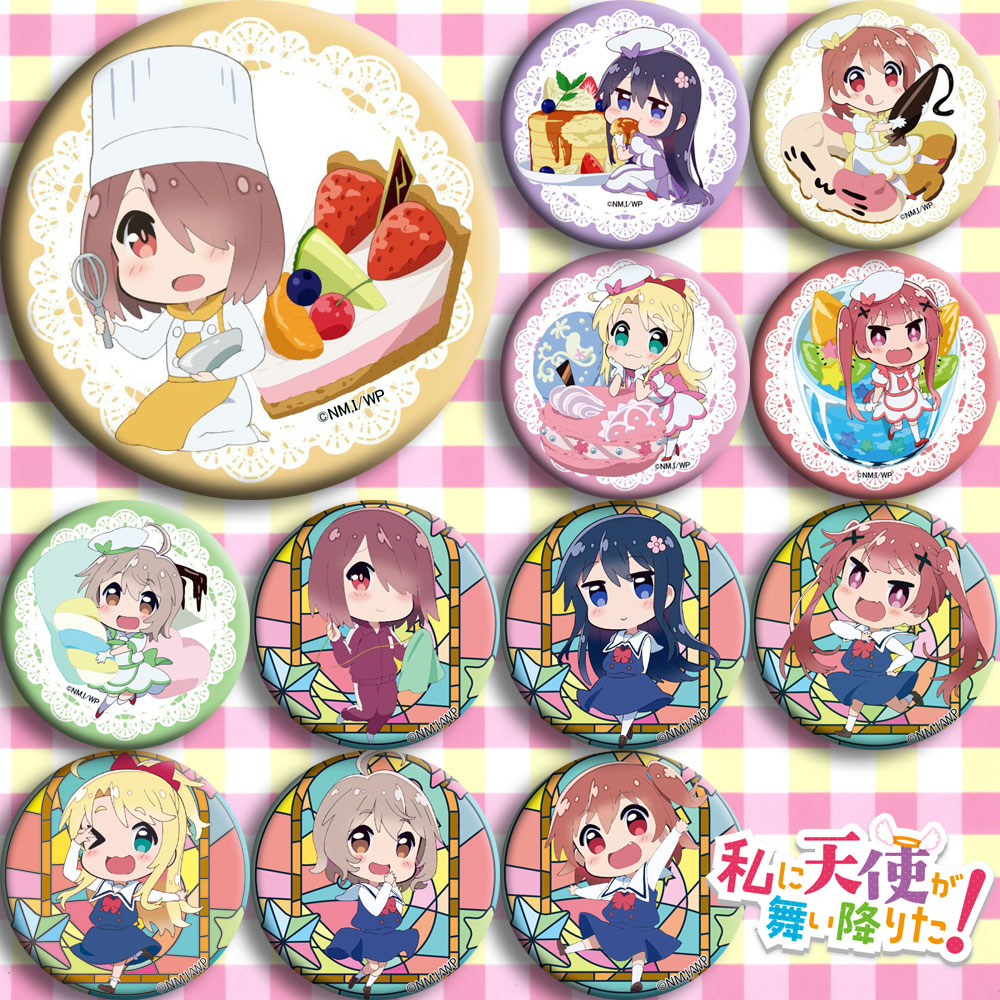 Japan Anime  Wataten!: An Angel Flew Down To Me  Cosplay Badge Cartoon Collection Backpacks Badges Bags Button Brooch Pins Gift