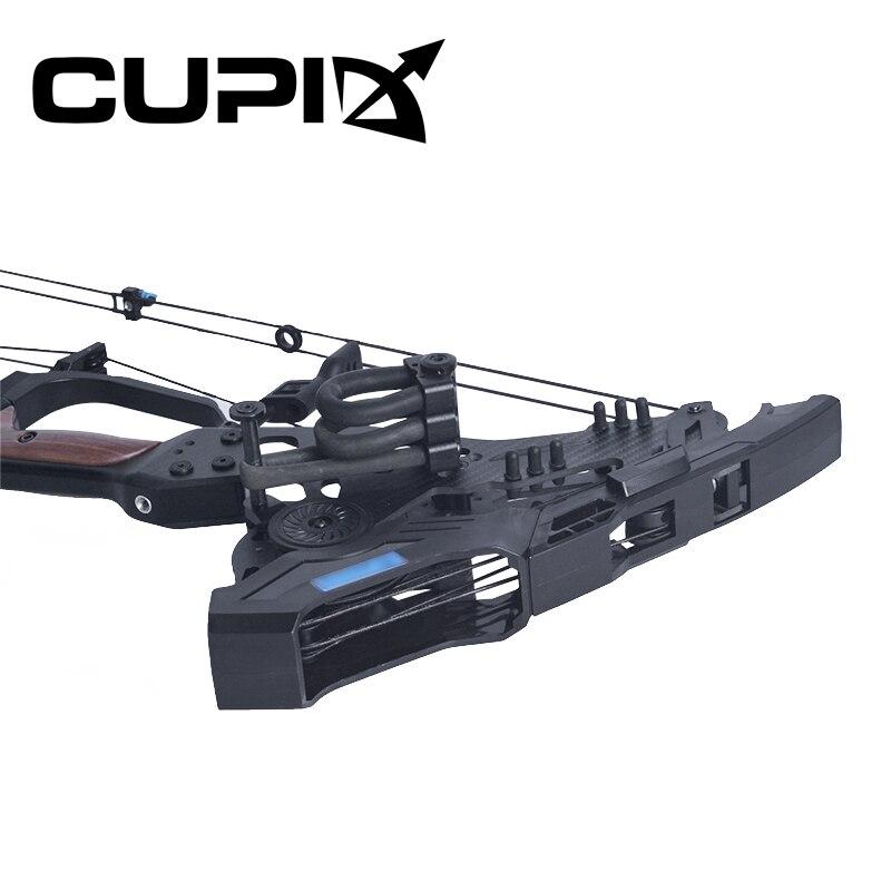 Arco compuesto 21,5-80 Lbs peso de tiro 26-30 pulgadas longitud de tiro 330/460 fps tiro con arco/juego bola de acero de doble uso para disparar - 6