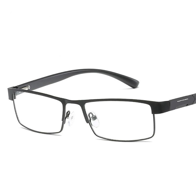 Ti-CARING Non spherical lens Reading Glasses Men Titanium alloy Presbyopia Eyeglasses with diopters Hyperopia Prescription