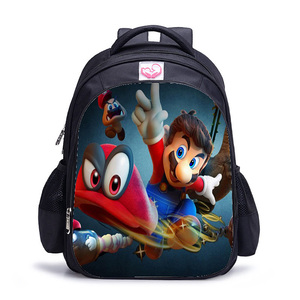 Рюкзаки Sac Dos 16 дюймов Аниме Mochila Super Mario для школьников, девочек-подростков, путешествия, застежвающиеся на молнию школьные сумки Kpop, Книжная сумка с 3D принтом