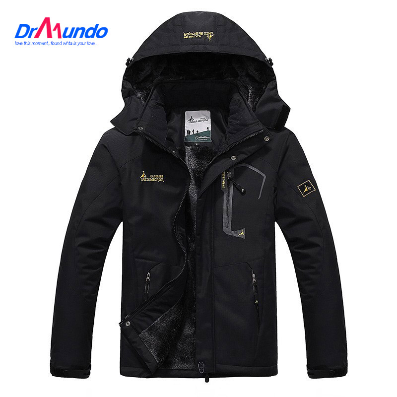 Ski Jacket Men Waterproof Fleece Snow Jacket Thermal Coat For Outdoor Mountain Skiing Snowboard Jacket Plus Size hooded parka