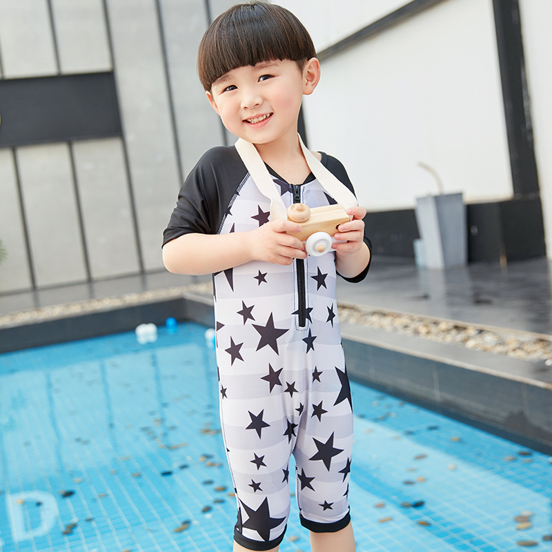 New Style KID'S Swimwear BOY'S Five-pointed Star One-piece Boxer Swim Bathing Suit Baby Children Infant Boys' Swimming Trunks