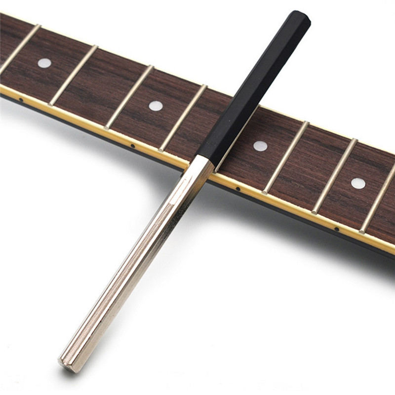 Strong Guitar Fret Crowning File Dressing File With 3 Size Edges Professional Luthier Tools Stringed Guitar Repairing Tools