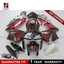 ZXMOTO Customized your Injection fairing Kit for Honda CBR600RR 2005-2006 F5 ABS Injection Bodywork Fire Red with Black arm injection intradermal injection arm arm intradermal injection model intradermal injection training sleeve gasen nsm0023