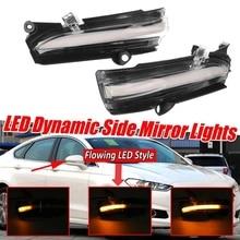 AU04  Car LED Dynamic Rear View Mirror Turn Signal Light for Ford Mondeo Fusion 2013 2018