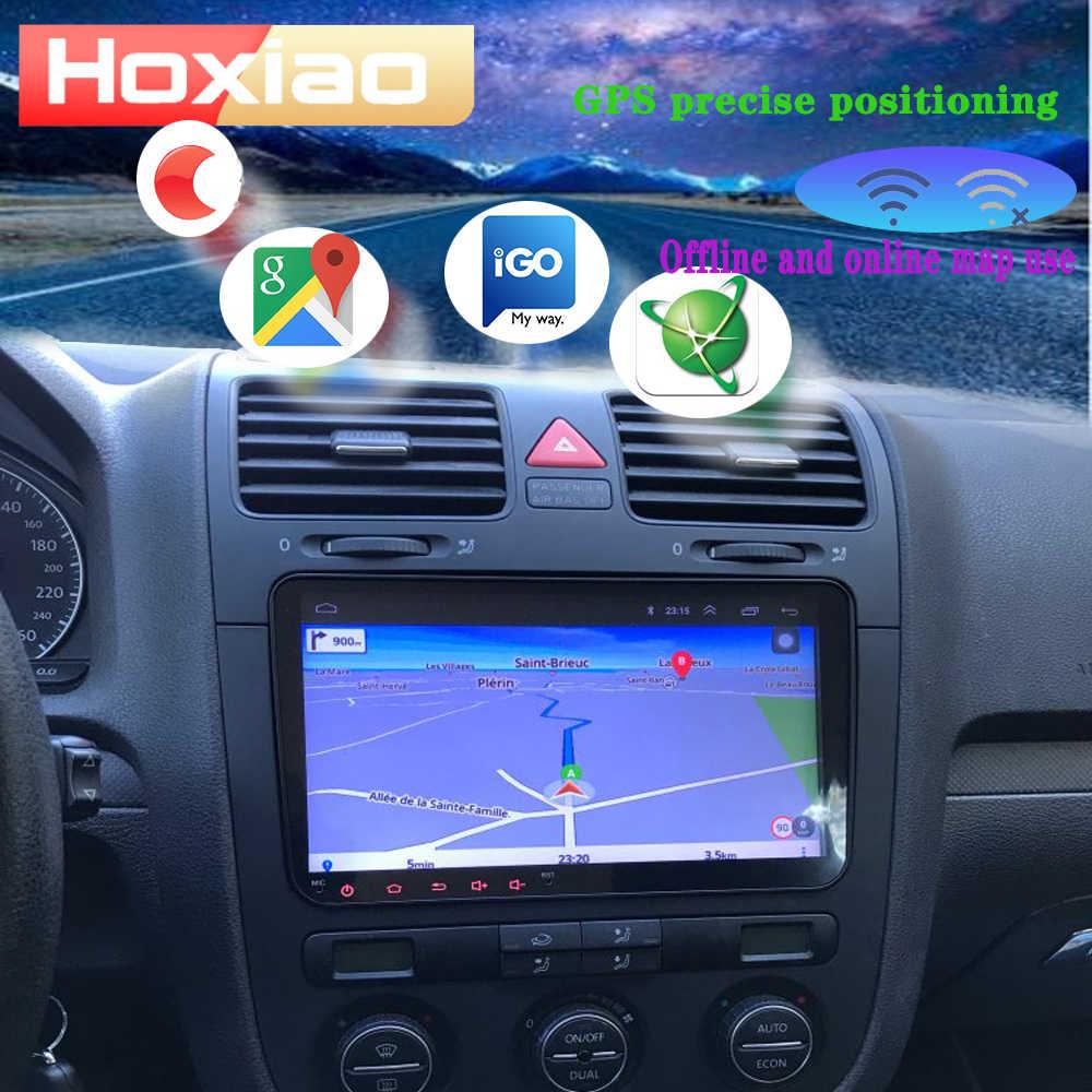 Samochodowy odtwarzacz multimedialny Android 8.1 GPS 2Din samochodowe Stereo dla volkswagena VW POLO Amarok PASSAT B6 Golf Skoda Seat Octavia Leon Radio