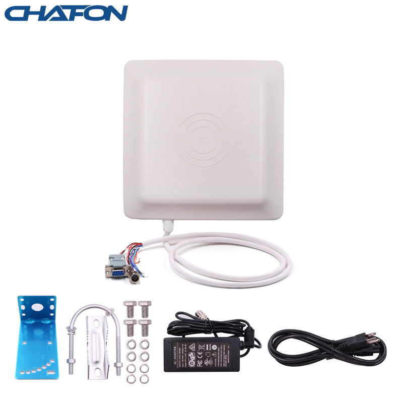 CHAFON Uhf Rfid Reader Integrated Antenna 7dBi Long Range 0~6m With RS232 RS485 WG26 TCP/IP Optional For Parking Lot Free SDK