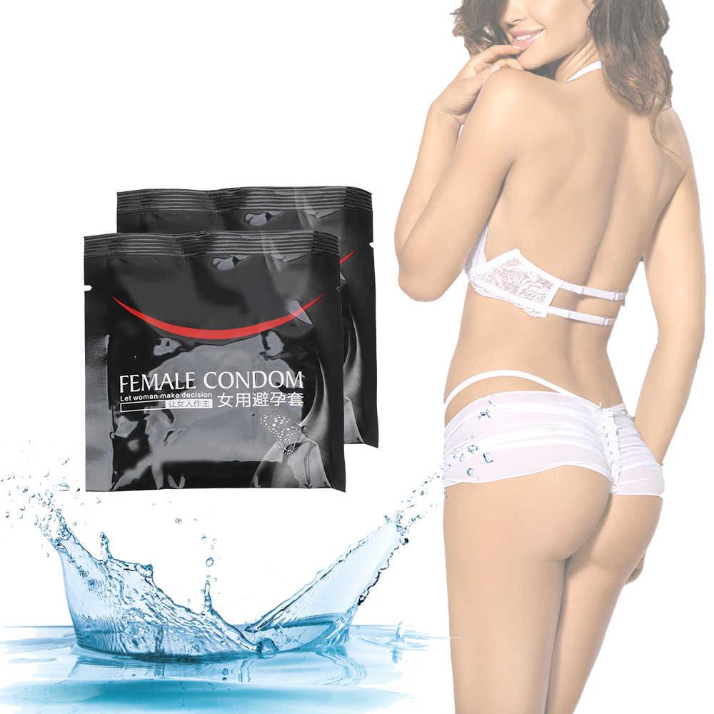 Olo 2 Pz/scatola Rubinetto Del Manicotto Del Pene Maniche Femminile Preservativo Ultra-Sottile Prodotti Preservativi Contraccettivi per Il Sesso Intimo per Le Donne