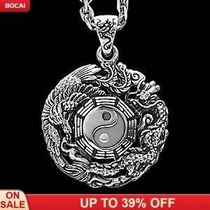 2019 pendentif naturel expédition Buda Druzy authentique pour Vibrations orientales 925 pendentif Sterling Dragon Tai pour Chi Bagua Evil