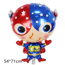 1pcs Superhero foil air helium balloons Spiderman Batman Iron man Captain America baby boy birthday party supplies Favor toys(China)
