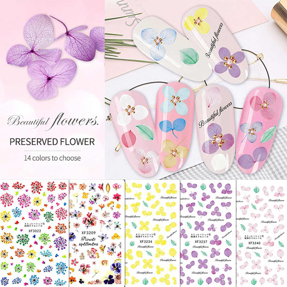 1pcs New Simple Nail Stickers Green Leaf Flowers Feather Water Decals Nail Art Decorations Wraps Sliders Manicure