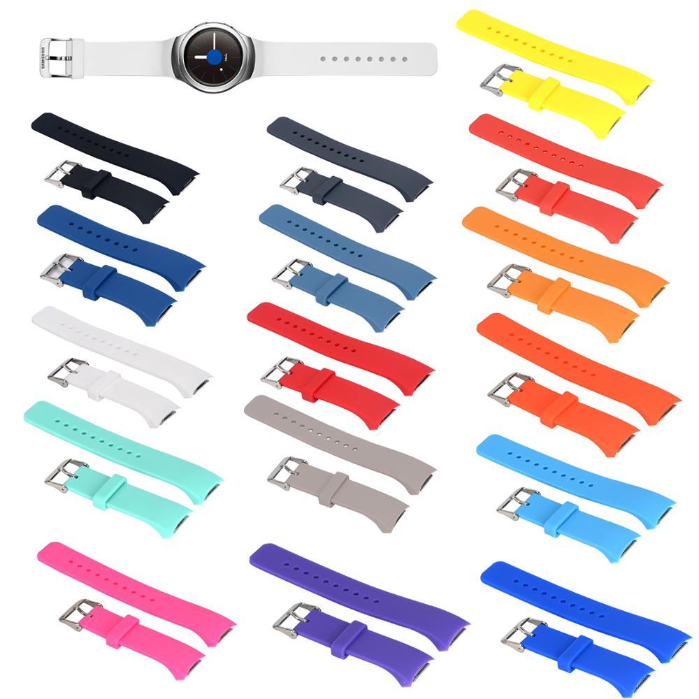 Watch Strap For Samsung Gear S2 R720 Replacement Silicone Solid Color Sport Watchband Straps For Samsung  S2 Smart Watch Strap
