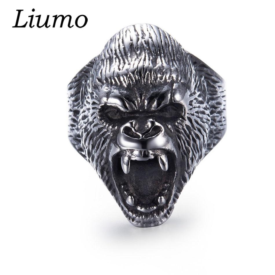 Liumo de moda Punk Estilo Vintage Animal gorila enojado de aleación anillo motociclista para hombres Lr967 Cubot Max 2 Android 9,0 Octa-Core 6,8