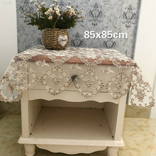 European Pastoral Lace Heavy Embroidery Tablecloth Balcony Small Round Table Mat Christmas Wedding Decoration Mantel Mesa Tapete novel circular mesh pattern lace round tablecloth transparent christmas party wedding tea table mat decoration mantel nappe