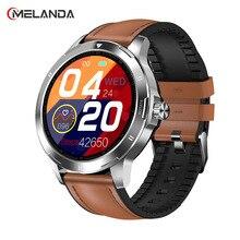 2021 גברים מלא מסך מגע חכם שעון IP67 עמיד למים תמיכת HR/BP כושר Tracker smartwatch עבור IOS אנדרואיד