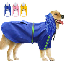 цена на Pet Dog Reflective Raincoat Waterproof  Clothes Outdoor Windproof Jacket For Small Medium Large Dogs