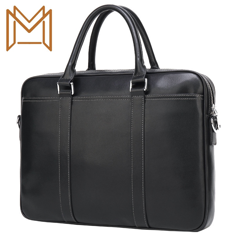 2019 Cross Section Single Shoulder Span 14 Inch Computer Package Cowhide Male Business Affairs Briefcase Genuine Leather Man