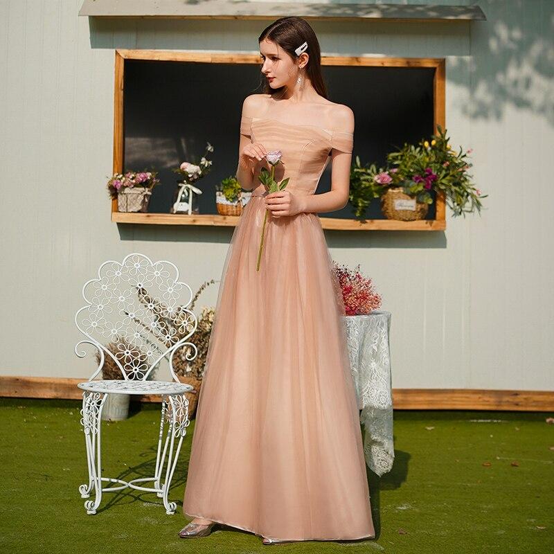 Bridesmaid Dresses Plus Size Tulle A-Line Elegant Dress Women For Wedding Party Vestido De Festa Longo Sexy Prom Dress Formal