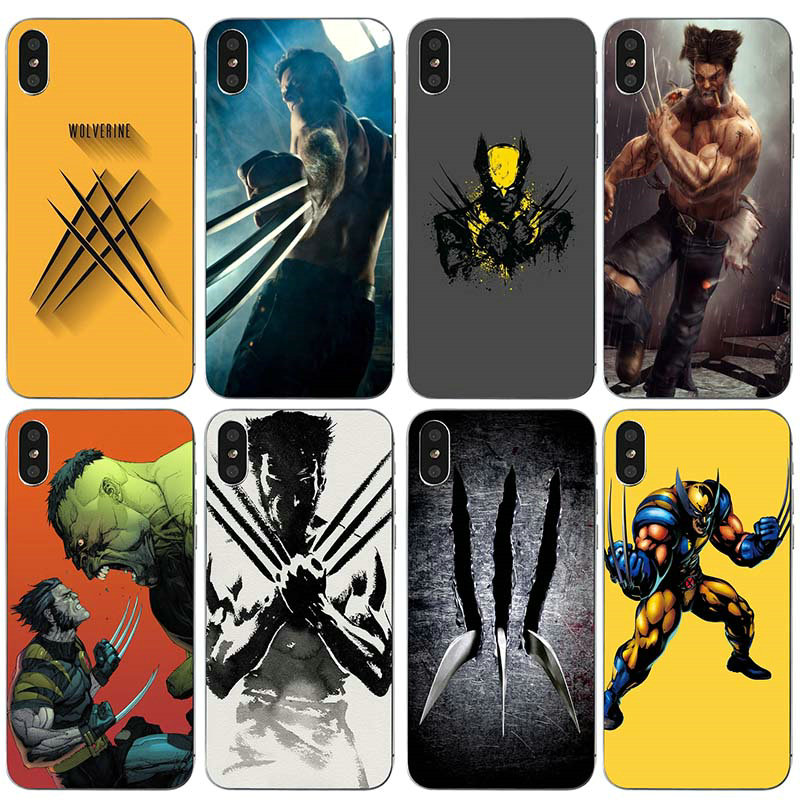 For iPhone 5 5S 5C SE 6 6S 7 8 Plus X XR XS Max Bags Totoro Soft Silicone TPU Cell Phone Case Cover Wolverine Comics Xmen Hero image