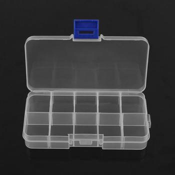 10 Grids Adjustable Earring Jewelry Organizer Storage Box Travel Portable Pills Buttonand Bead Screw Container Case For Home image