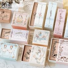 Vintage Flower Girl Homing Pigeon Decoration Stamp Wooden Rubber Stamps for Scrapbooking Stationery DIY Craft Standard Stamp