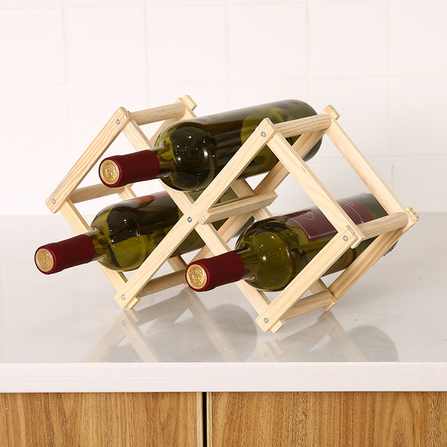 Collapsible Wooden Wine Rack 3