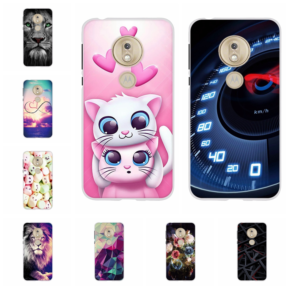 For Motorola Moto G7 Play Cover Soft TPU Silicone Case Animal Patterned Funda Coque