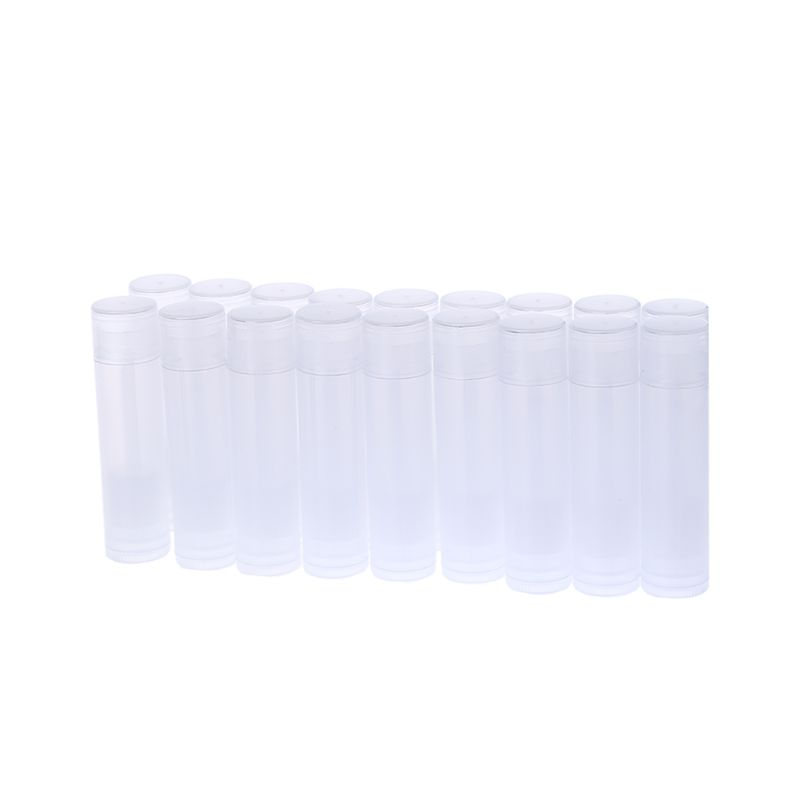 50PCS 5ML Cosmetic Empty Chapstick Lip Gloss Lipstick Balm Tube + Cap Container