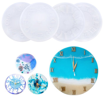 10cm 15cm Silicone Clock Mold Clock Resin Silicone Mould Casting Tools Handmade Jewelry making Tool DIY Crafts Epoxy Resin Molds jewelry saw frame adjustable jeweler making diy tools blade handmade crafts arc jewelry tool