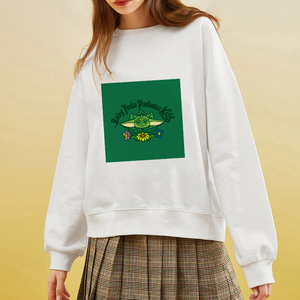 Showtly Kawaii Harajuku Funny Slurp The Mandalorian Baby Yoda Oversized Hoodies Sweatshirt Autumn Winter Women Loose Long Sleeve