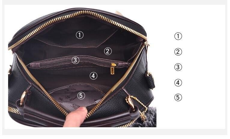 saco para as mulheres bolsa couro do