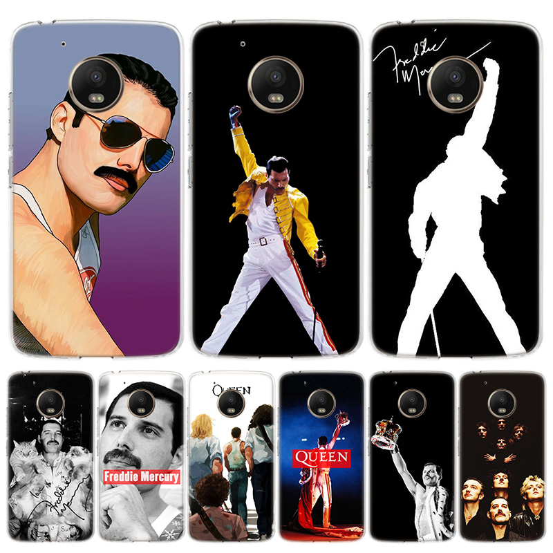 Queen Freddie Mercury King Cover Phone Case For Motorola Moto G8 G7 G6 G5S G5 E6 E5 E4 Plus G4 Play EU One Action X4 Pattern Coq