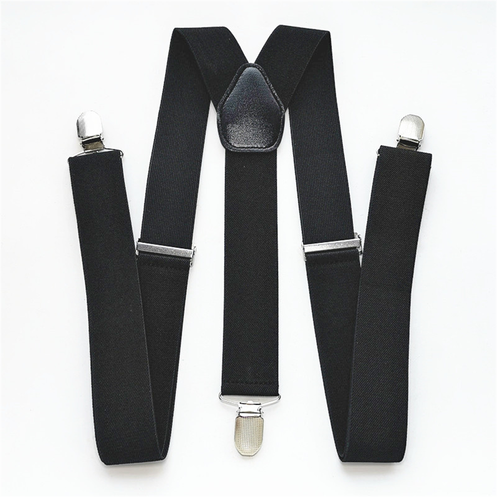 Men Plus Size Y-Back Suspenders Solid Color Elastic Adjustable Suspender Women Children Adult Braces Clothes Accessories BD028