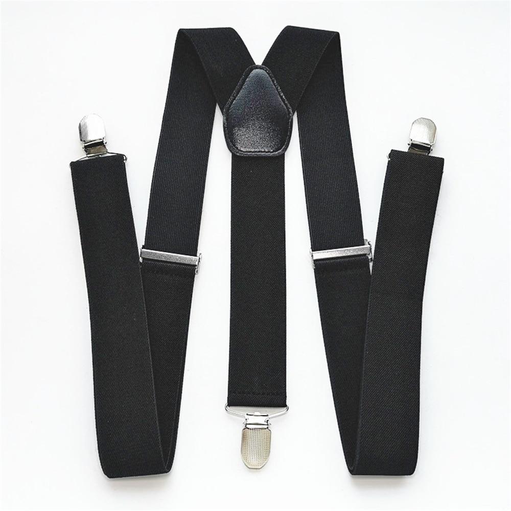 Men Plus Size Y-Back Suspenders Solid Color Elastic Adjustable Suspender Women Children Adult Braces Clothes Accessories