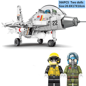366Pcs Military Series F-15 Eagle Fighter Building Blocks Model Army Technic Airplane Set Bricks City Children Toys Kids Gift