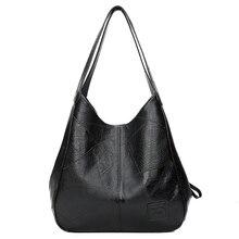 SMOOZA 2020 Neue Vintage Leder Luxus Handtaschen Frauen Taschen Designer Taschen Berühmte Marke Frauen Taschen Große Kapazität Tote Taschen Sac