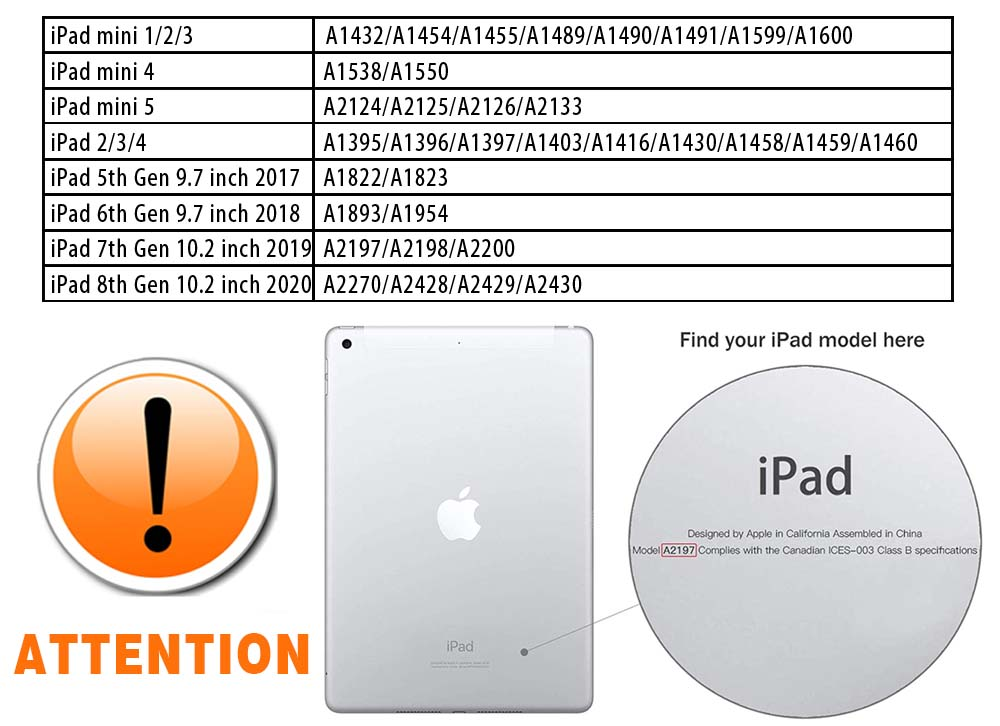 Tablet Hard Back for Apple IPad 8 2020 8th Gen 10 2 A2270 A2428 Z2429 Z2430