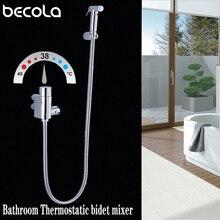 Torneiras termostáticas de bronze torneira do chuveiro do banheiro bidé pulverizador wc bidé lavadora misturador chuveiro muçulmano ducha higienica