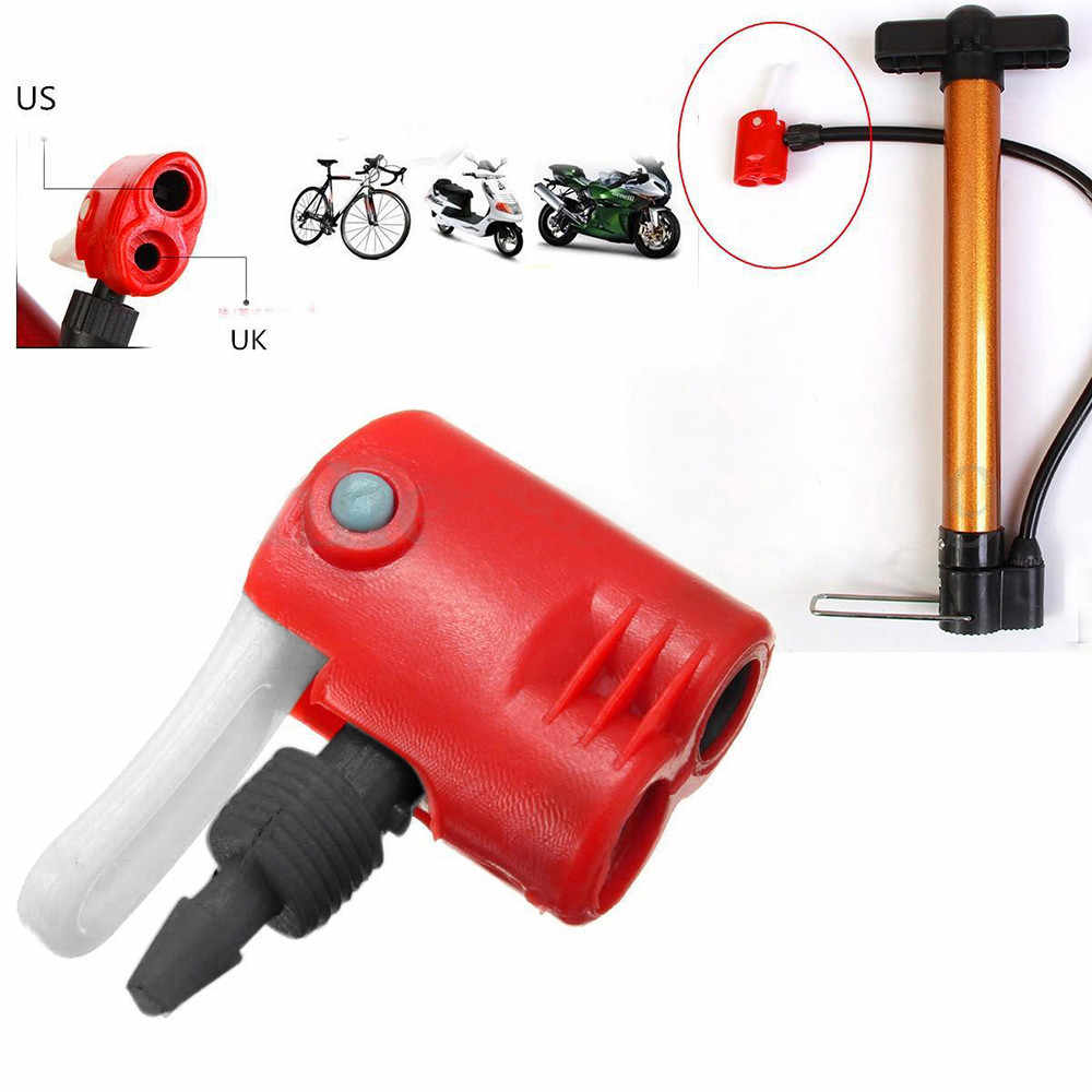 Cyclus Fiets Tyre Buis Vervanging Dual Head Luchtpomp Adapter Klep Hoge Kwaliteit Fiets Accessoires # ZH