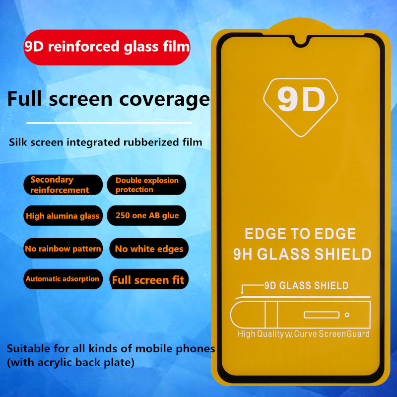 9D Tempered Glass on the For <font><b>Xiaomi</b></font> Redmi 7 8 6 K20 Pro 6A 7A 8A Note 6 7 8 Pro <font><b>Screen</b></font> <font><b>Protector</b></font> Safety Protective Glass Film image