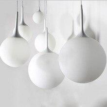 Glass Pendant Light E27 White hanging lamp modern 20/25/30/ 35/40cm led pendant lamp for kitchen living room home docor