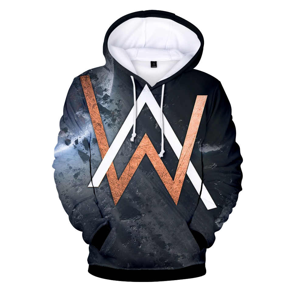 2018 New Style Alan Walker Electronic Music Tiancai Allen Walker Related Products Autumn Clothing 3D Colour Printing Hoodie