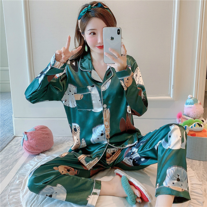 Lazy Style 2020 WAVMIT Short Sleeve Pajamas Silk Set 2 Pcs Set Women Sleepwear Sexy Nightwear for Women Pyjamas Set Short Pant|Pajama Sets| - AliExpress