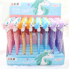 1PC Cute Unicorn Pencils Kawaii Replaceable Pencils Novelty HB Pencils Refills For Kids Gifts School Office Supplies Stationery vividcraft kawaii 12 pcs lot knock type colored pencils for drawing kids mechanical pencils stationery office school supplies