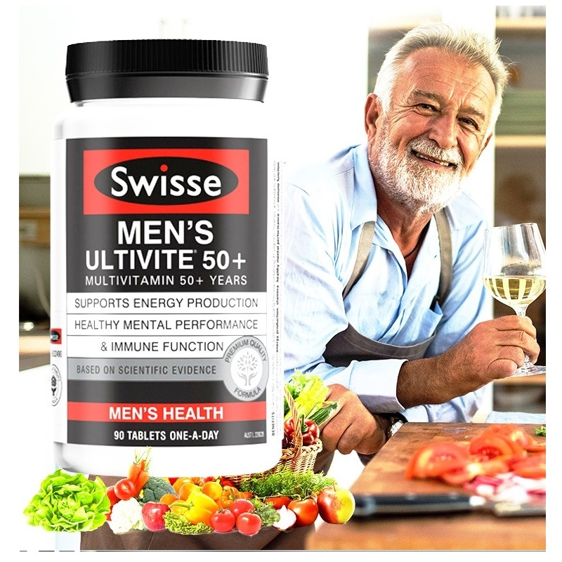 Swisse Multivitamins For 50+ Years 90Tablets Men Maintain Energy Activity Levels Mental Alertness Stamina Vitality During Stress