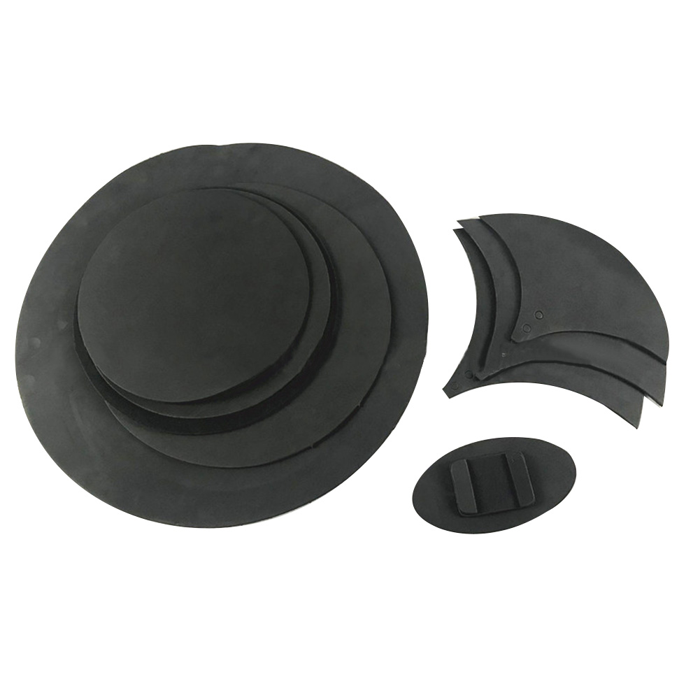10pcs Non Toxic Drum Snare Rubber Foam Folding Sound Off Tool Accessories Practical Cymbal Mute Silencer Pad Kit Bass Percussion