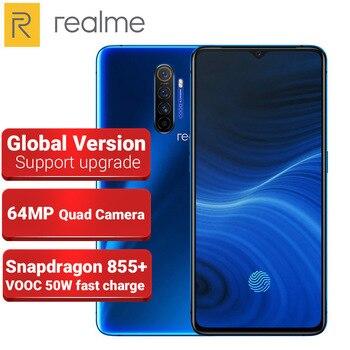 Перейти на Алиэкспресс и купить Глобальная версия Realme X2 PRO мобильный телефон 8 Гб 128 ГБ 64-мегапиксельная четырехъядерная камера 6,5 дюймов Snapdragon 855 + Восьмиядерный 4000 мАч NFC 4G с...