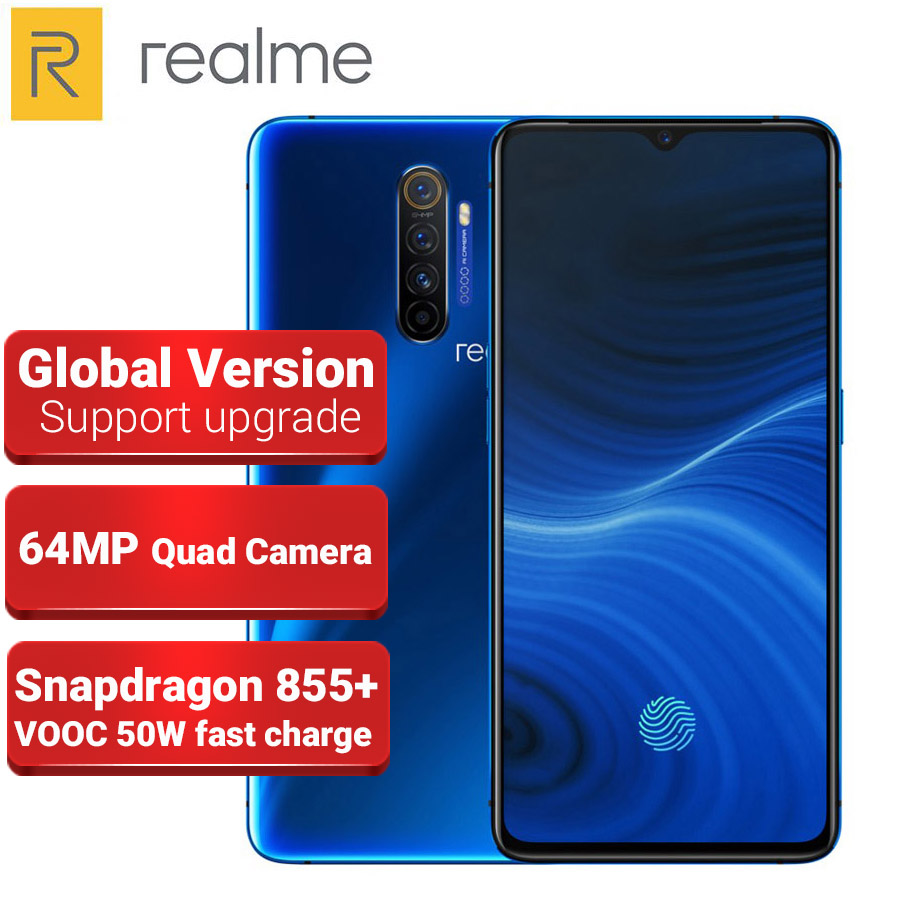 Global Version Realme X2 PRO Mobile Phone 8GB 128GB 64MP Quad Camera 6.5
