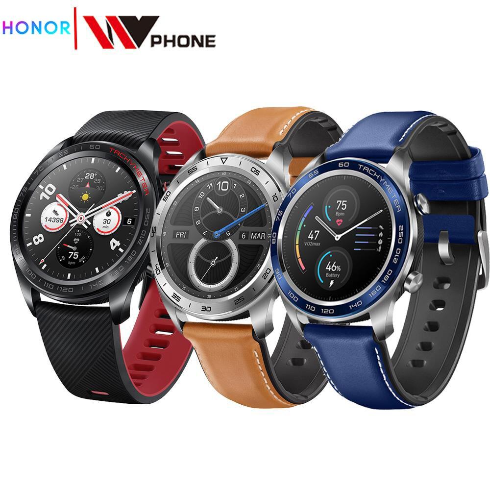 Reloj huawei magic Honor reloj mágico reloj inteligente ritmo cardíaco a prueba de agua rastreador de sueño de trabajo 20m 22mm de goma de Nylon de reloj de silicona banda reloj Omega Correa Seamaster Planet Ocean 8900 9900 naranja negro azul pulseras